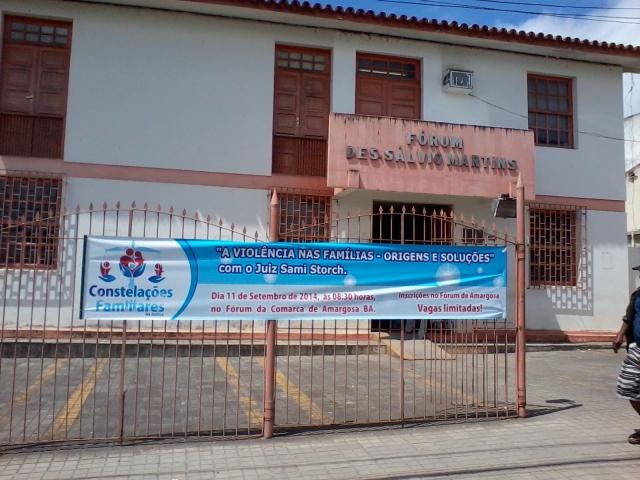 Fórum da Comarca de Amargosa, onde será realizado o evento