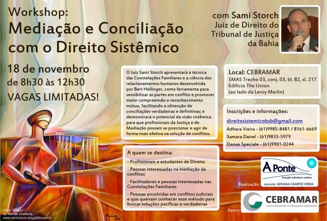 Cartaz Workshop Direito Sistêmico em BSB