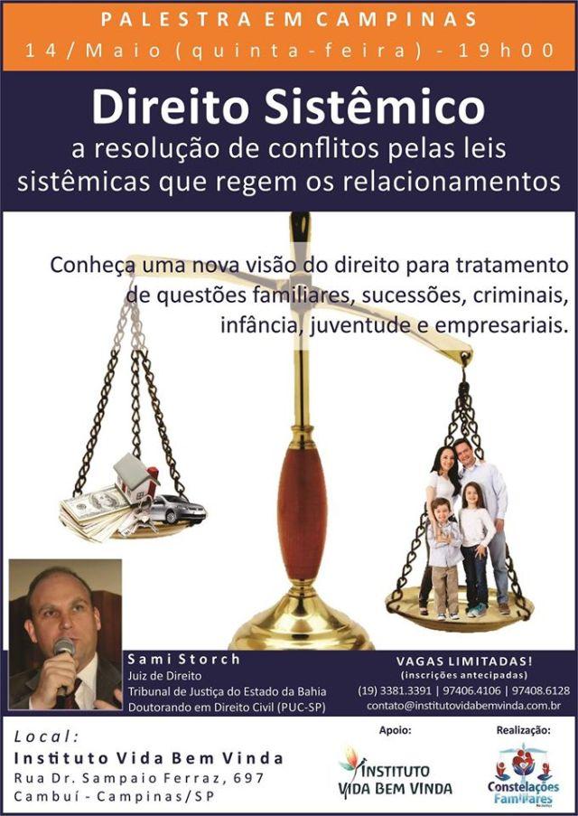 Palestra Direito Sistêmico em Campinas - cartaz