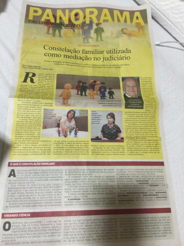 Reportagem jornal Panorama - Mato Grosso - Jaqueline Cherulli