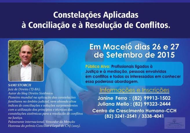 Sami Storch realizará workshop de constelações aplicadas à resolução de conflitos na Escola Superior da Magistratura de Alagoas
