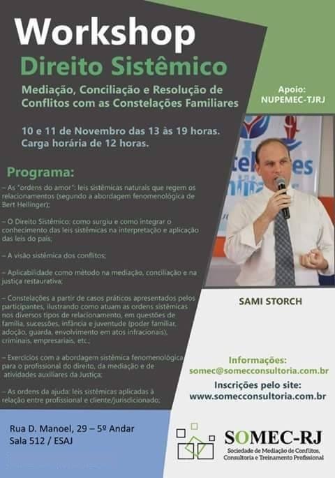 Cartaz Direito Sistêmico - NUPEMEC RJ - novembro2015