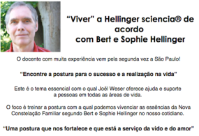 Cartaz grande Joel Weser em SP - Hellinger Sciencia